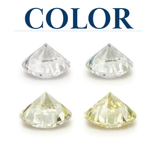 COLOR is determined by the 'whiteness' of a diamond, or its lack of color and is graded on a sliding scale.